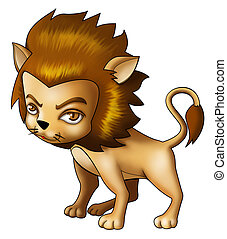 Airbrushed Leo - Illustration of Leo in cartoon style