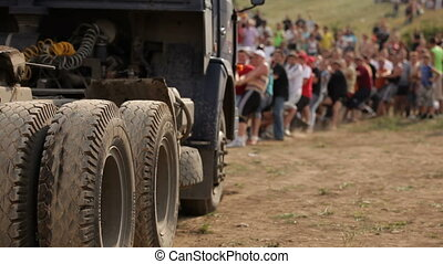 Trying to pull a truck - A lot of people are trying to pull...