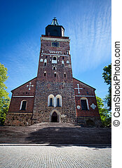 Turku Cathedral in Finland Summer season