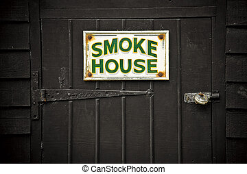 smoke house - old fashioned food preparation smoke house...