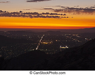 Simi Valley California - Night - Simi Valley in Southern...
