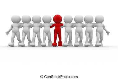 Team - 3d people - human character - leadership and team 3d...