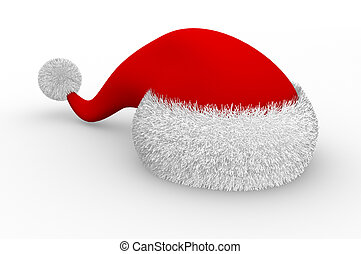 Christmas hat. This is a 3d render illustration