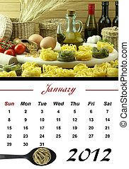 Monthly Pasta Calendar January 2012