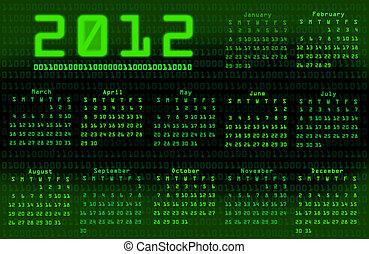 Binary code calendar 2012