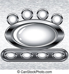 Vector illustration of a set of buttons on a grunge background