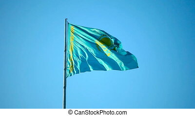 Kazakhstan flag - National flag of Kazakhstan Republic