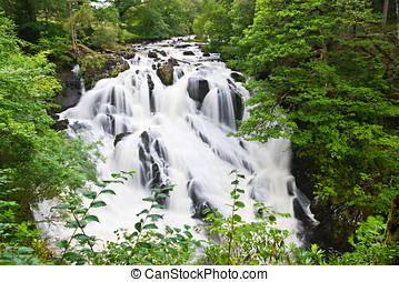 Betws-y-Coed Waterfalls in Snowdonia, North Wales
