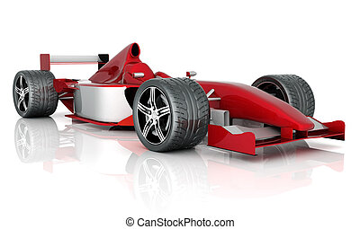 sports car - image red sports car on a white background