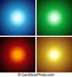 Light Rays - Abstract Background Illustrations, Vectors