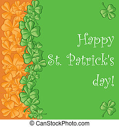St. Patrick\'s day greeting card