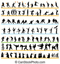 90 Sport Silhouettes Set