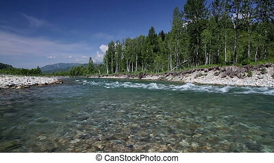 Altai summer - A beautiful mountain river in southern...