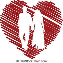 Couple in love - vector