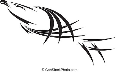eagle tattoo - tattoo eagle- vector illustration