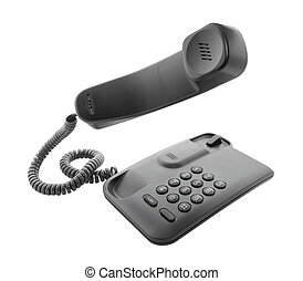 Black phone with floating handset