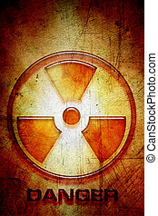 Radioactive warning sign of danger