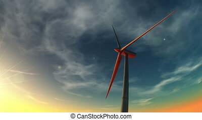 wind-generated electricity - image of wind-generated...