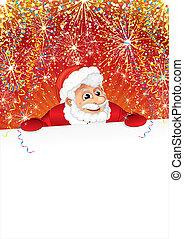 Celebrating Santa with Poster - Celebrating Santa with Blank...