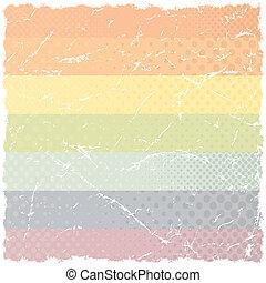 Grunge Rainbow Pattern