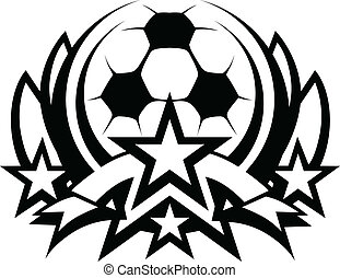 Soccer Ball Vector Graphic Template - Graphic Template of...