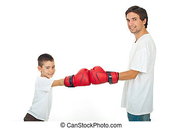 Father and son competition