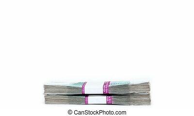 stack of banknotes increases - money concept - stack of...