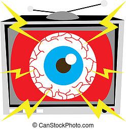 TV Eye Illustration