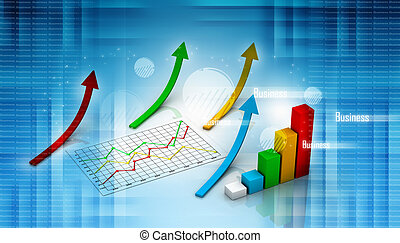 graph showing rise in profits - graph showing rise in...