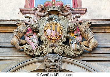 Coat of Arms - Detailed view of historical coat of arms.