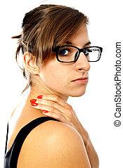 woman's neck pain