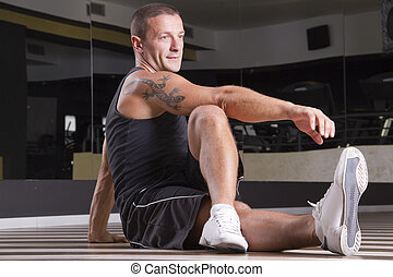 Fitness posing   - Fitness instructor workingout