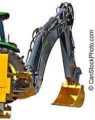 building technics - Fragment of shovel boom of a dredge with...