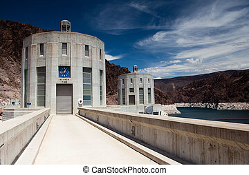 Hoover Dam in Black Canyon