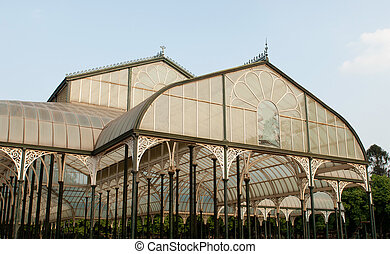 Bangalore - The glass house in Lal Bagh, the famous garden...