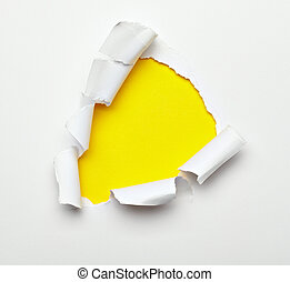 paper hole ripped destroyed damaged exploding