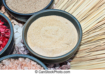 Aromatherapy Essentials- bath salt in stone cup