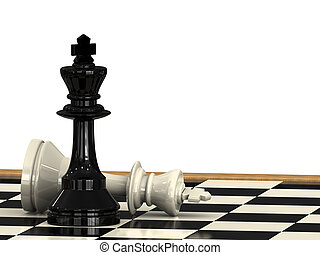 Check Mate - A check mate from a chess king to another on a...