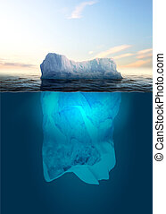 Melting Iceberg - Antarctic iceberg in the ocean. Beautiful...