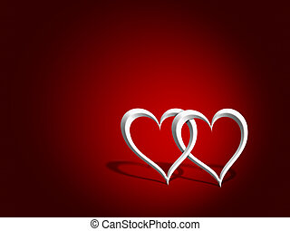 Entwined hearts - An illustration of a couple of entwined...
