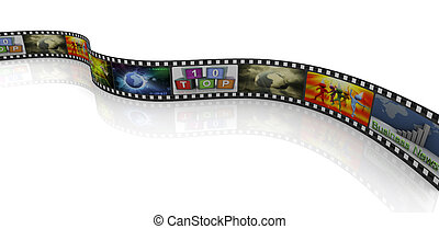 3d movie reel - 3d render of movie reel