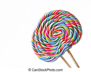 Lolly pop - A pair of standing colorful lolly pops