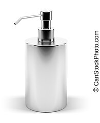 Metal Soap Dispenser - A render of an isolated metal soap...