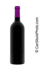 Purple Wine Bottle - A render of an isolated bordeaux wine...
