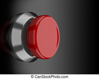 Red Button - A render of a red button over a black...