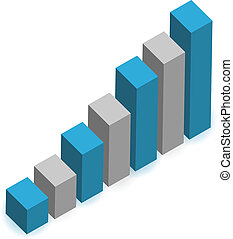rising business graph illustration