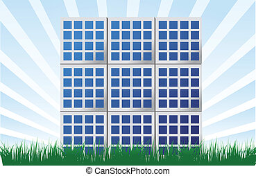 Solar panel illustration background design
