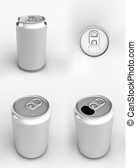 Soda Can Views - Render of different views of an aluminum...