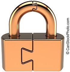 Lock padlock closed guard concept