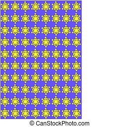 Purple and Yellow Floral pattern